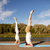 vrouw · yoga · pose · fitness · sport - stockfoto © dolgachov