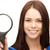 女性実業家 · 見える · 虫眼鏡 · 表示 · アフリカ - ストックフォト © dolgachov