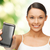woman showing smartphone stock photo © dolgachov
