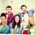 studentów · trzymając · się · za · ręce · w · górę · szkoły · edukacji · szczęśliwy - zdjęcia stock © dolgachov