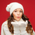 mutlu · kadın · kış · elbise · avuç · içi - stok fotoğraf © dolgachov