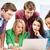 internazionali · studenti · guardando · laptop · scuola · istruzione - foto d'archivio © dolgachov