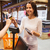 happy woman with credit card buying food in market stock photo © dolgachov