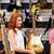 zenész · vásárló · gitár · zene · bolt · vásár - stock fotó © dolgachov