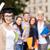studenten · tieners · bestanden · diploma · onderwijs · campus - stockfoto © dolgachov