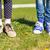 kettő · lábak · fű · nő · cipők · felső - stock fotó © dolgachov