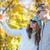 smiling couple with smartphone taking selfie stock photo © dolgachov