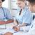 grup · mutlu · doktorlar · toplantı · hastane · ofis - stok fotoğraf © dolgachov