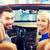 szczęśliwy · para · patrząc · wewnątrz · samochodu · auto - zdjęcia stock © dolgachov