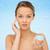 mujer · crema · cara · piel - foto stock © dolgachov
