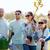 csoport · önkéntesek · fák · gereblye · park · önkéntesség - stock fotó © dolgachov