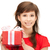 happy teenage girl with gift box stock photo © dolgachov