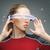 kobieta · futurystyczny · okulary · zdjęcie · piękna · kobieta · robot - zdjęcia stock © dolgachov