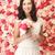 bastante · rosa · rosas · ramo · atención · selectiva - foto stock © dolgachov