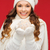 kadın · şapka · eldiveni · Noel · top · kış - stok fotoğraf © dolgachov