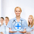 souriant · Homme · médecin · infirmière · médicaux · installation - photo stock © dolgachov