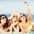meisjes · zelfportret · strand · zomer · vakantie - stockfoto © dolgachov