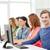 férfi · diák · osztálytársak · számítógép · osztály · oktatás - stock fotó © dolgachov