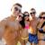 семьи · песок · улыбаясь · пляж · здании · человека - Сток-фото © dolgachov
