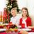 glimlachend · familie · vakantie · diner · home · vakantie - stockfoto © dolgachov