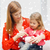 moeder · meisje · spaarvarken · foto · business · vrouw - stockfoto © dolgachov