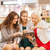 happy young women with tablet pc and shopping bags stock photo © dolgachov