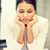 クロック · 女性 · 思考 · 美しい · 女性 - ストックフォト © dolgachov