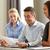 gens · d'affaires · papiers · réunion · bureau · travail · d'équipe · souriant - photo stock © dolgachov