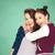 gelukkig · lachend · kinderen · student · meisjes · school - stockfoto © dolgachov