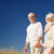 idős · pár · vidék · séta · unokák · nő · család - stock fotó © dolgachov