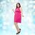 幸せ · 小さな · プラスサイズ · 女性 · ポーズ · ピンク - ストックフォト © dolgachov