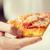 el · pizza · dilim · lezzetli · yalıtılmış - stok fotoğraf © dolgachov