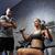 férfi · tornaterem · gép · testmozgás · fitnessz · képzés - stock fotó © dolgachov