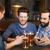 mannen · smartphones · drinken · bier · bar · pub - stockfoto © dolgachov