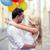 целоваться · пару · настоящее · сидят · диван · человека - Сток-фото © dolgachov