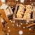 közelkép · zab · sütik · kártya · fa · asztal · karácsony - stock fotó © dolgachov
