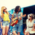 feliz · hippie · amigos · jogar · música - foto stock © dolgachov