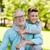 grand-père · petit-fils · extérieur · famille · génération - photo stock © dolgachov