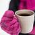 vrouwelijke · drinken · warme · drank · buitenshuis · winter · jonge - stockfoto © dolgachov