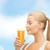jonge · vrouw · drinken · sinaasappelsap · voedsel · gezondheidszorg · dieet - stockfoto © dolgachov