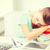 fáradt · diák · alszik · stock · könyvek · kép - stock fotó © dolgachov