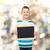 sorridere · piccolo · ragazzo · nero · lavagna - foto d'archivio © dolgachov
