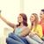tienermeisjes · naar · mobiele · telefoon · school · technologie · onderwijs - stockfoto © dolgachov