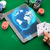 casino poker player with cards tablet and chips stock photo © dolgachov