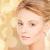twarz · piękna · młoda · kobieta · piękna · ludzi · beżowy - zdjęcia stock © dolgachov