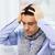 közelkép · beteg · férfi · influenza · fejfájás · otthon - stock fotó © dolgachov