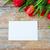 vermelho · tulipas · papel · em · branco · carta · anúncio - foto stock © dolgachov