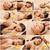 マッサージ · コラージュ · 美少女 · 温泉療法 · 顔 - ストックフォト © dolgachov