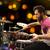 masculino · músico · jogar · bateria · concerto · música - foto stock © dolgachov