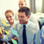 souriant · gens · d'affaires · marqueur · autocollants · travail · d'équipe · planification - photo stock © dolgachov